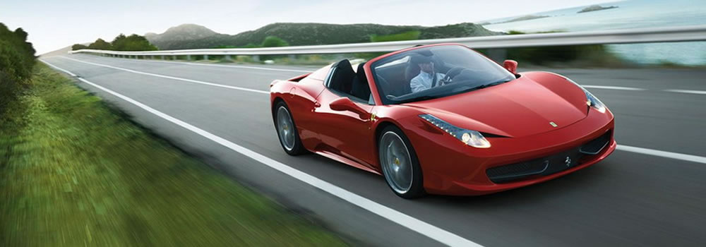 Ferrari 458 Spider to hire